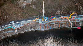 Viaduct opens beside Scottish loch