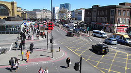 Commuters encouraged to avoid polluted London road